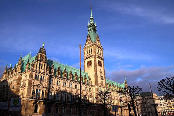 El ayuntamiento de Hamburgo, Alemania