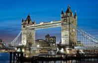 El Tower Bridge de Londres en Inglaterra
