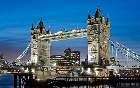 El Tower Bridge de Londres en Inglaterra, Reino Unido
