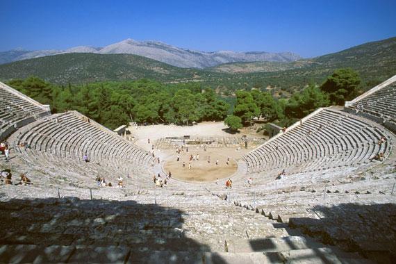 El antiguo teatro de Epidauro